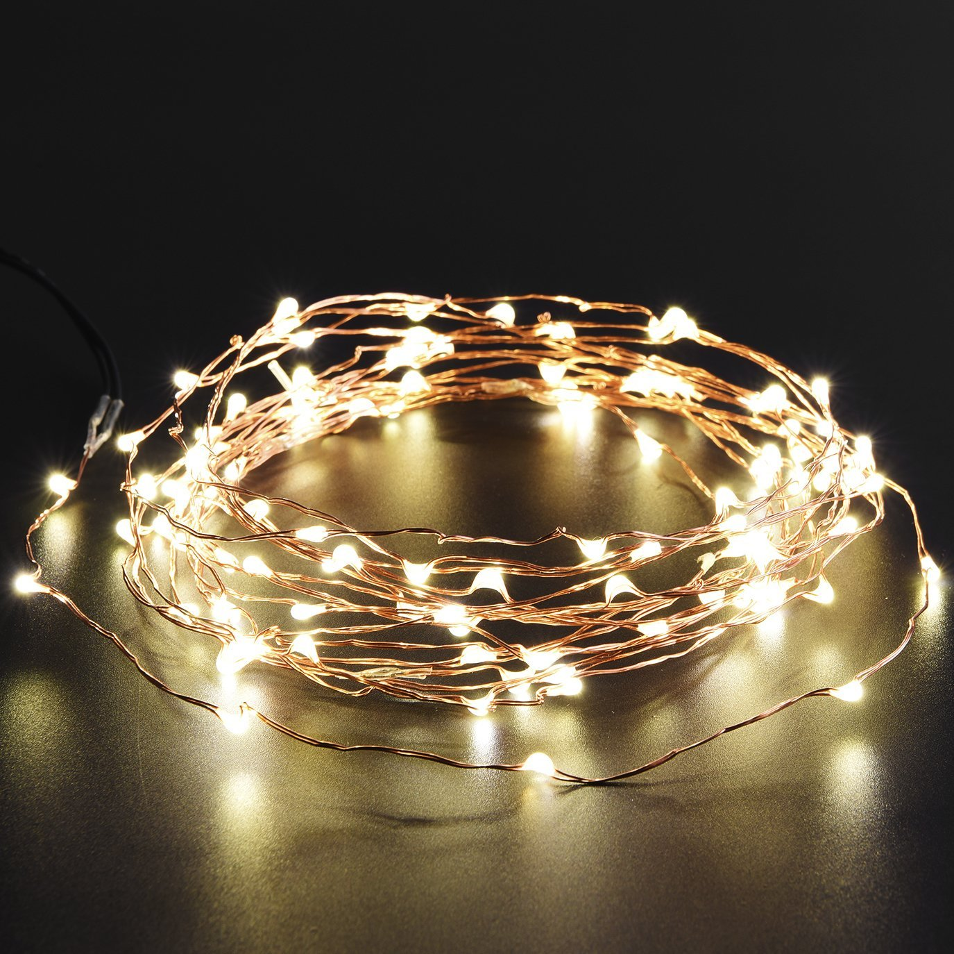Led String Lights Reject Shop: Oak Leaf Solar Led Copper String Lights